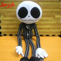 AmyshHOT toys creative soft plush Nightmare Before Christmas Jack Skeleton Plush Toy Stuffed Dolls baby kids toys gifts for kids