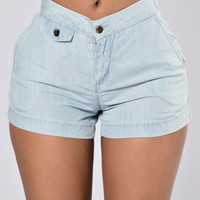 Goin With The Flow Shorts - Light