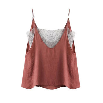 2017 Summer Casual Strappy Tops Tank Blouse [10454786447]