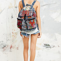 Stela 9 Santiago Patchwork Backpack in Blue - Urban Outfitters