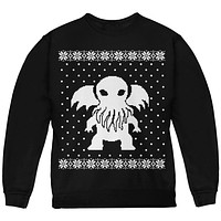 Big Cthulhu Lovecraft Ugly Christmas Sweater Youth Sweatshirt
