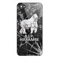 RIP Harambe Craked Glass Print On Hard Plastic Case For iPhone 6s, 6s plus, 7