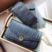 FENDI New Popular Women Shopping Bag Leather Handbag Tote Shoulder Bag Crossbody Satchel Three-Piece