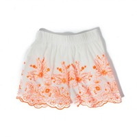 SHORE THING EMBROIDERED SKIRT