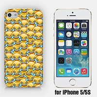 for iPhone 5/5S - Crying Happy Emoji - Smiley - Emoticon - Ship from Vietnam - US Registered Brand