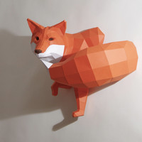 Fox Papercraft Kit