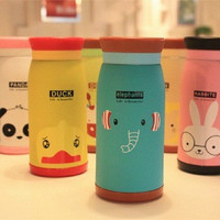 Cartoon Thermos Cup Stainless Steel Thermocup Vacuum Thermal Mug 250ml/350ml