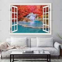 Wall Art Picturer prints on Trees Outside the Window  home decor Canvas painting Wall poster decoration for living room no frame