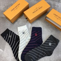 STRIPED LV SOCKS - 4PCS