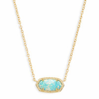 Elisa Pendant Necklace in Aqua Kyocera Opal | Kendra Scott