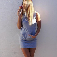 Womens Casual Gray Dress