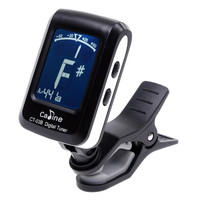 LCD Clip-on Electronic Digital Guitar Chromatic Bass Violin Ukulele Tuner I96 Instrument (Color: Black) = 1645691460