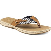 Women's Seafish Thong Sandal in Navy Stripe by Sperry