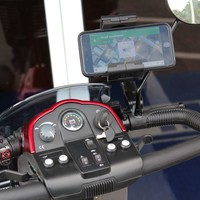 Scooter Phone Holder J-S2107W-ma - Challenger Accessories Phone Holders   TopMobility.com