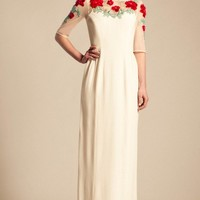 Long Magnolia Embroidered Dress