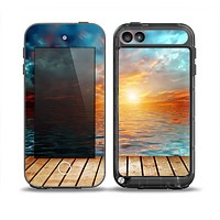The Paradise Sunset Ocean Dock Skin for the iPod Touch 5th Generation frē LifeProof Case