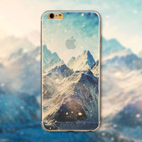 "Fashion Ultra thin soft silicon Mountain landscape scenery case  for iphone 6 4.7"" Luxury Transparent cell phone back housing"