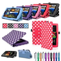 PU Leather Case Cover Stand for Amazon Kindle Fire HD 6 Tablet Folio