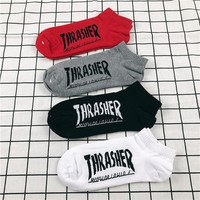 Thrasher Unisex Skateboard Socks [11529800716]