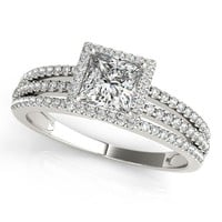 Princess Cut Moissanite Center Engagement Ring Diamond Setting - Rain