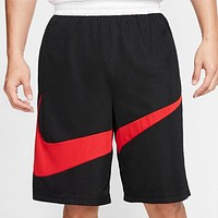 NIKE New fashion hook print sports leisure shorts Black