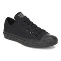 CONVERSE CHUCK TAYLOR ALL STAR OX CANVAS TRAINERS - BLACK MONOCHROME