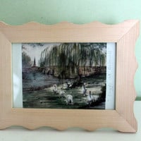 Collectible Painting, Bridge At Bakewell by Helen Clark, Table Decor