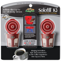 Solofill Refillable Filter Cup For Keurig 2 Pk