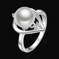 925 Sterling Silver Pearl Chain Necklace Pendant Jewelry