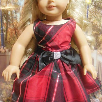 """American girl doll clothes """"Perfectly Plaid"""" (18 inch)  OOAK"""