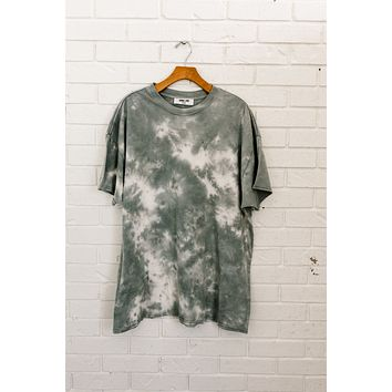 Grey Tie Dye Top