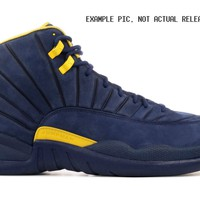KU-YOU Nike Air Jordan Retro 12 RTR Michigan College Navy Amarillo BQ3180-407