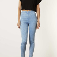 MOTO Blue Acid Joni Jeans - Jeans - Clothing - Topshop USA