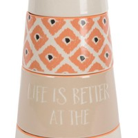 Life is better at the beach lighthouse Stacked Measuring Cups