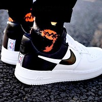 Nike AF1 NBA Limited Sneaker Clippers Silk Limited Air Force One White+Black