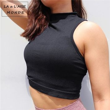 Workout Tops For Women Sportswear Gym Tank Crop Top Yoga Shirts Sports Wear Fitness T Shirt Womens Sport Ladies Activewear