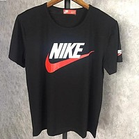 NIKE 2018 summer new men's sports breathable t-shirt loose half sleeve F0516-1 black