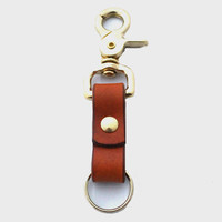 The Cascade Leather Key Ring
