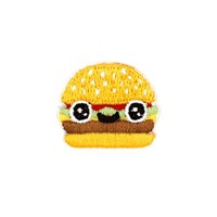 Burger Face Mini Sticker Patch