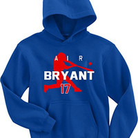 """Kris Bryant Chicago Cubs """"Air Bryant"""" Hooded Sweatshirt ADULT SMALL"""