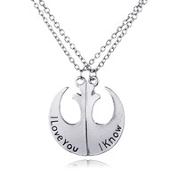 Jewelry New Arrival Gift Shiny Stylish Fashion Accessory Starwars Couple Pendant Necklace [6033873089]