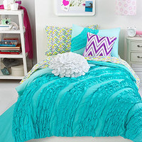 Teen Vogue Bedding, Ella Teal Ruffle Comforter Sets - Bedding Collections - Bed & Bath - Macy's