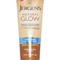 natural glow firming medium tanning lotion by jergens 7.5 oz