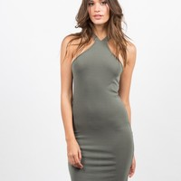 Racer Bodycon Dress