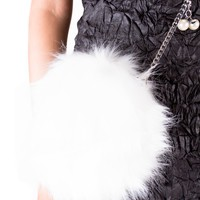 Faux Fur Round Crossbody Bag