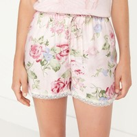 Summer Home Pants Stretch Lace Casual Cotton Shorts [9093785930]