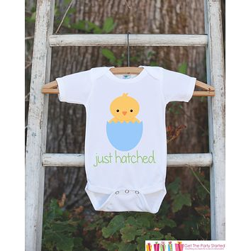 Baby Boy Outfit - Boys Just Hatched Outfit - Newborn Infant Onepiece - Baby Chick Bodysuit for Boys - Going Home Take Home Hospital Outfit