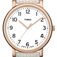 Timex® 'Easy Reader' Leather Strap Watch, 42mm   Nordstrom