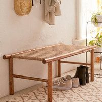 Woven Bench | Urban Outfitters