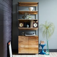 "Rustic Modular 33"" Open + Closed Storage"